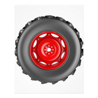 Tractor wheel letterhead