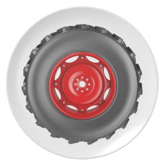Tractor wheel plate