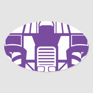 TractorFront.pdf Oval Sticker