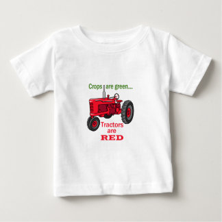 Tractors Are Red Baby T-Shirt