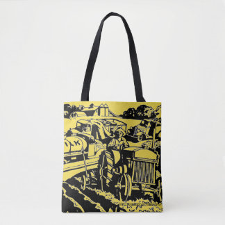 """""""Tractorville"""" Tote Bag"""