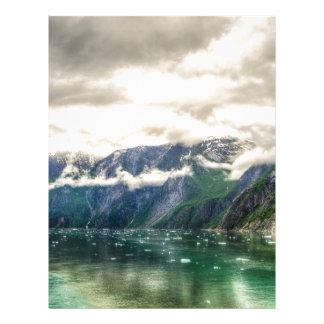 Tracy Arm, Alaska Custom Letterhead
