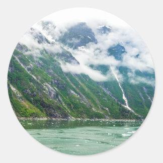 Tracy Arm, Alaska Round Sticker