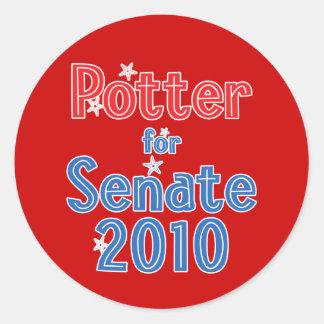 Tracy Potter for Senate 2010 Star Design Round Sticker