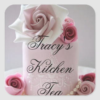 Tracy's Kitchen Tea Square Sticker