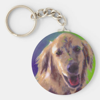 Tracy's Pup Basic Round Button Keychain