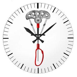 Trad Rock Climbing Large Clock