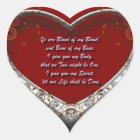 Trad. Scot Love Vow: Blood of my Blood - Autumnal Heart Sticker
