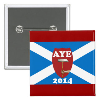 Trade Unionist Scottish Independence Flag Badge 2 Inch Square Button