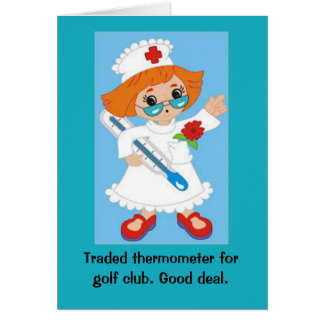 Traded Thermometer for Golf Club - Good Deal Card