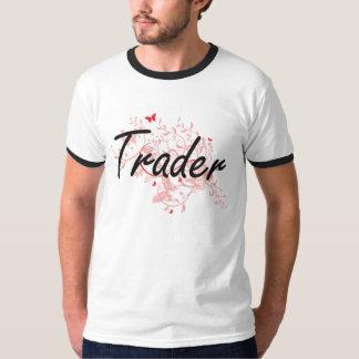 Trader Artistic Job Design with Butterflies T-Shirt