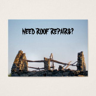 TRADES, ROOFING BUSINESS CARD