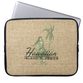 Tradewinds Hawaiian Hula Girl Neoprene Wetsuit Laptop Sleeve