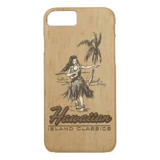 Tradewinds Hawaiian Island Hula Girl Faux Wood Case-Mate iPhone Case