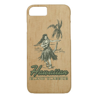 Tradewinds Hawaiian Island Hula Girl Faux Wood iPhone 8/7 Case