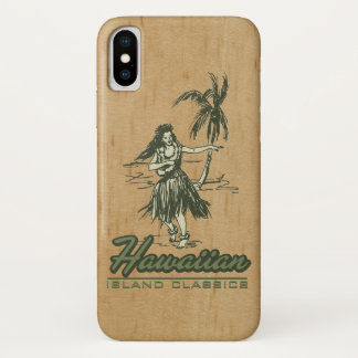 Tradewinds Hawaiian Island Hula Girl Faux Wood iPhone X Case