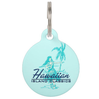 Tradewinds Hawaiian Island Hula Girl Pet ID Tag