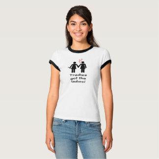 Tradies lesbien obtiennent les sentiments pliés t-shirt
