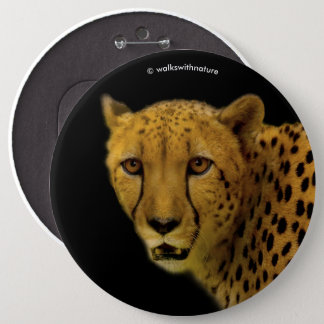 Trading Glances with a Magnificent Cheetah 6 Inch Round Button