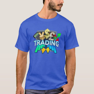 Trading Men's blue T-shirt