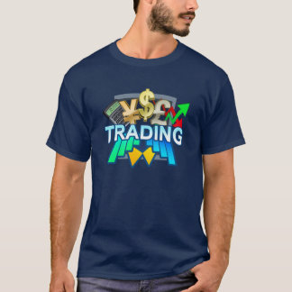 Trading Men's navy T-shirt