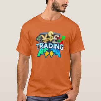 Trading Men's orange T-shirt