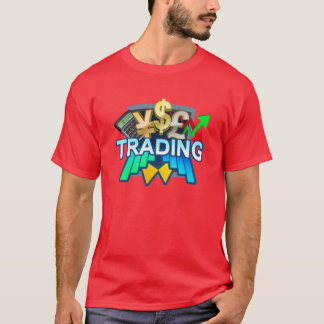 Trading Men's red T-shirt