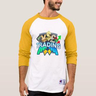 Trading Men's white/yellow Raglan T-shirt