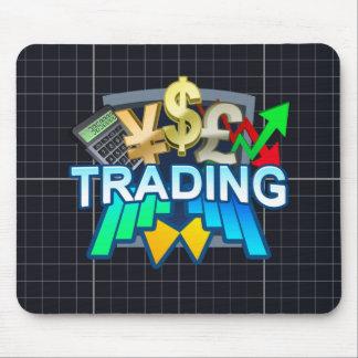 Trading orange grid Mousepad