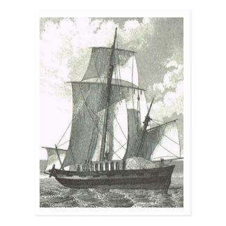 Trading vessel 1800s postcard