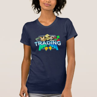 Trading Women's navy T-shirt