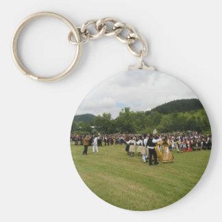 Tradition Greek Dance Basic Round Button Keychain