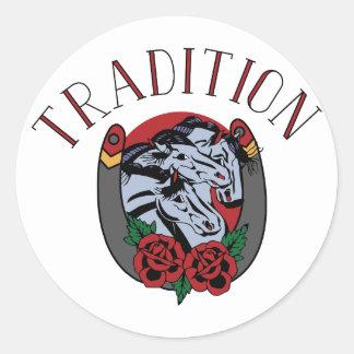 Tradition Round Sticker