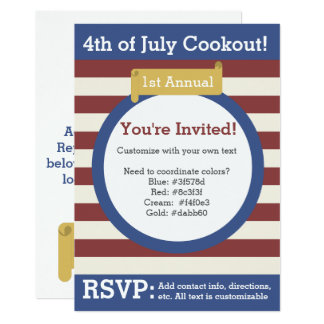 Traditional 4th of July Invitation