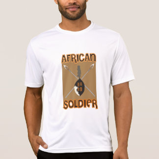 Traditional African Soldier Spear and Shield T-Shirt