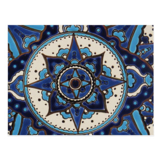 Traditional antique ottoman turkish tiles postcard
