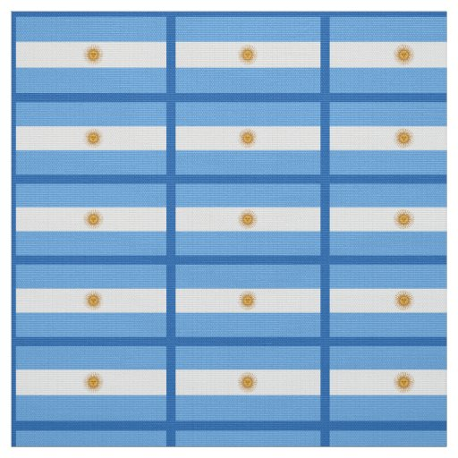 Traditional Argentina Flag Fabric