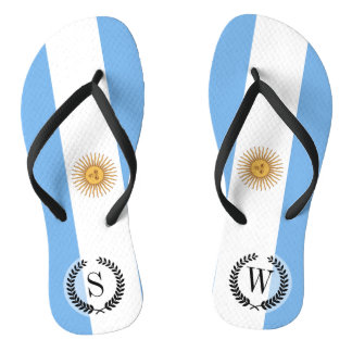 Traditional Argentina Flag Flip Flops