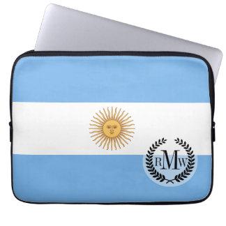 Traditional Argentina Flag Laptop Sleeve