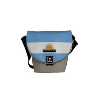 Traditional Argentina Flag Messenger Bags