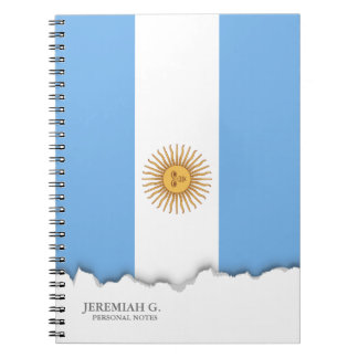 Traditional Argentina Flag Spiral Notebooks