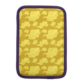 Traditional Asian/Chinese Golden Cloud Pattern Sleeve For iPad Mini
