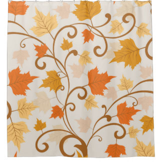 Traditional Autumn Falling Leaves