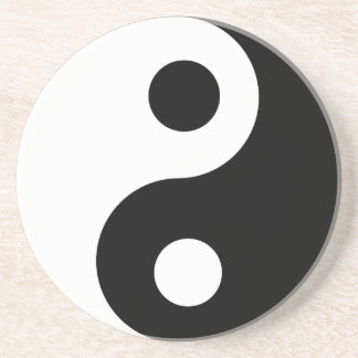 Traditional Black and White Yin Yang Pattern Coaster