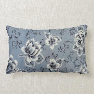Traditional Blue Flower Pattern | Lumbar Pillow