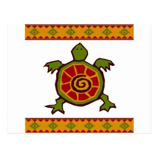 traditional border swirly turtle.ai postcard
