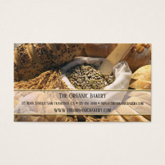 Traditional Bread Bakery Business Card
