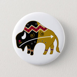 Traditional Buffalo 2 Inch Round Button