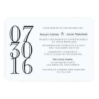 Traditional Calson Wedding Invitation