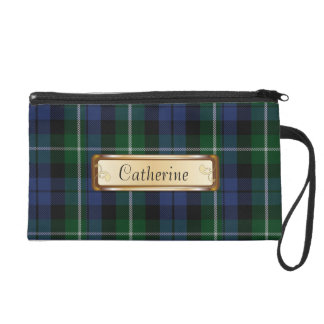 Traditional Campbell Clan Tartan Plaid Wristlet